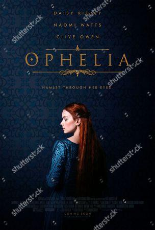Ophelia (2018) Poster Art. Daisy Ridley as Ophelia