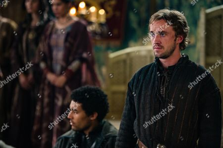 Devon Terrell as Horatio and Tom Felton as Laertes