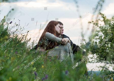 Daisy Ridley as Ophelia and George MacKay as Hamlet
