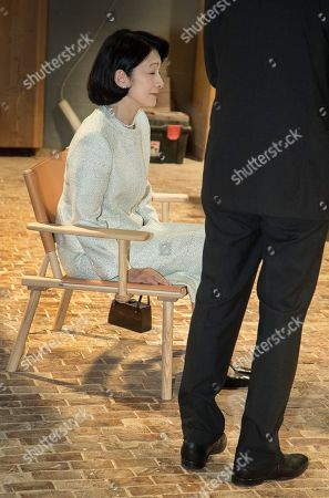 Crown Princess Akishino (L) of Japan sits on a chair during a visit to the workshop of furniture manufacturer Nikari in Fiskars village, Finland, 04 July 2019. The Japanese royal couple are on a four-day visit to Finland that marks 100 years of diplomatic relations between the two countries.