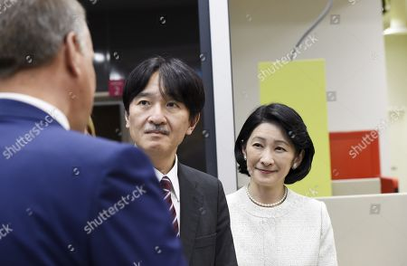 Crown Prince Akishino and Crown Princess Akishino of Japan learn about Finland's maternity and child healthcare services with Mayor of Espoo Jukka Makela at the Iso Omena maternity clinic in Espoo. During their four-day visit, Their Imperial Highnesses will explore Finnish culture, landmarks, nature and healthcare.