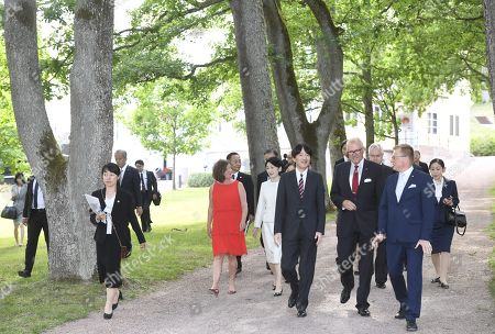 Crown Prince Akishino and Crown Princess Akishino of Japan, CEO of Fiskars Group Jaana Tuominen, Mayor of Raasepori Ragnar Lundqvist and Head of Business Real Estate at Fiskars Kari Selkala tour the Fiskars Village in Raasepori. During their four-day visit, Their Imperial Highnesses will explore Finnish culture, landmarks, nature and healthcare.