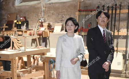 Crown Prince Akishino and Crown Princess Akishino of Japan visit the workshop of Nikari, a wood design studio and furniture manufacturer, in the Fiskars Village in Raasepori. During their four-day visit, Their Imperial Highnesses will explore Finnish culture, landmarks, nature and healthcare.