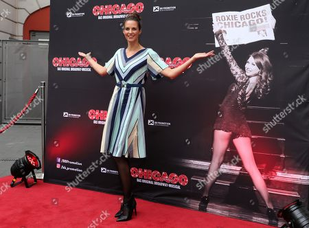 Stock Image of Katrin Wrobel poses during the premiere of the musical 'Chicago' at the Admiralspalast in Berlin, 04 July 2019. The musical runs until in Berlin 13 July.