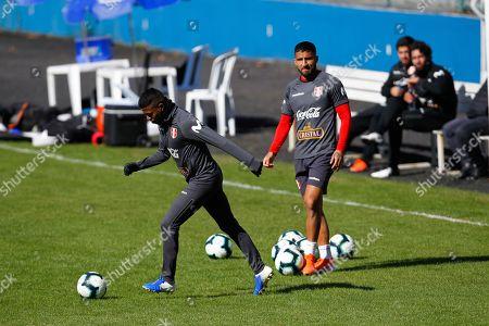 Editorial image of Peru's national soccer team training, Porto Alegre, Brazil - 04 Jul 2019