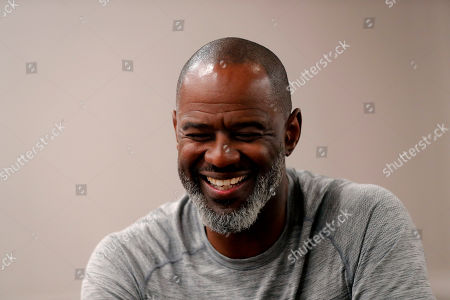 Stock Image of Music artist Brian McKnight speaks during an interview with the Associated Press during Essence Fest in New Orleans