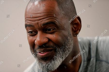 Music artist Brian McKnight speaks during an interview with the Associated Press during Essence Fest in New Orleans