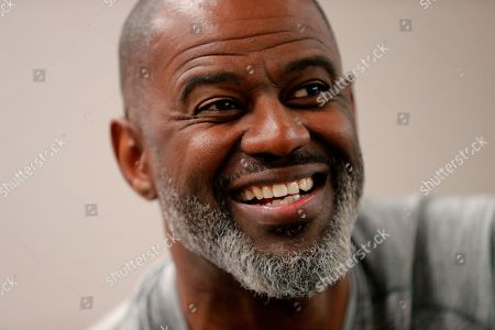 Stock Picture of Music artist Brian McKnight speaks during an interview with the Associated Press during Essence Fest in New Orleans