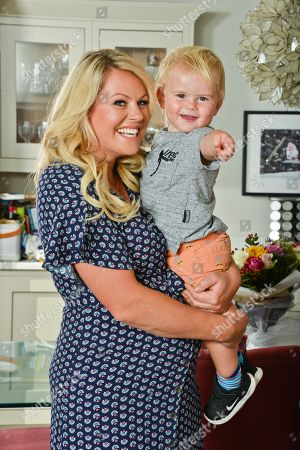 Chemmy Alcott and her 19 month old son Locki