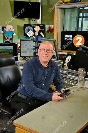 Stock Picture of Ken Bruce in studio