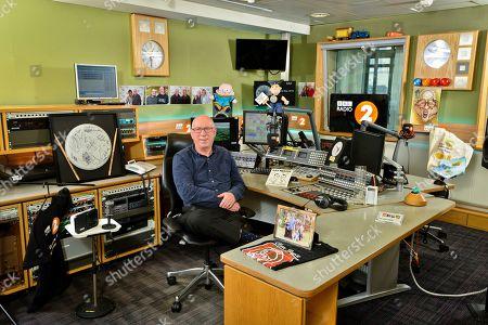 Stock Image of Ken Bruce in studio