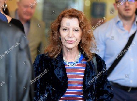 Rosa Miano, wife of Australian actor John Jarratt, leaves the Downing Centre Court in Sydney, Australia, 05 July 2019. Jarratt was in court for an alleged rape in 1976. The actor has pleaded not guilty.