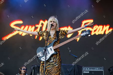 Stock Image of Julia Cumming of support act Sunflower Bean