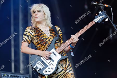 Editorial image of Sunflower Bean in concert at Cardiff Castle, UK - 29 Jun 2019