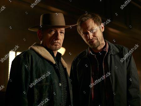 Sir Ben Kingsley as Pastor Byron Brown and Jimmi Simpson as James