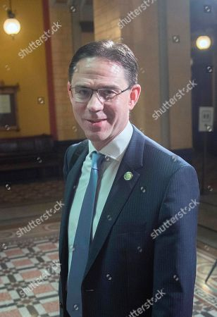 Finnish Commissioner Jyrki Katainen arrives at the House of the Estates (Saaty) in Helsinki, Finland, 05 July 2019. Finland started its EU Council Presidency period on 01 July 2019. The presidency rotates among the EU member states every six months.