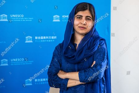 Nobel Peace Prize laureate Malala Yousafzai poses on the sidelines of the Education and development G7 ministers Summit, in Paris, France, 05 July 2019. France is hosting the rotating presidency of the G7 in 2019. The 45th G7 Summit will be held in August in Biarritz.