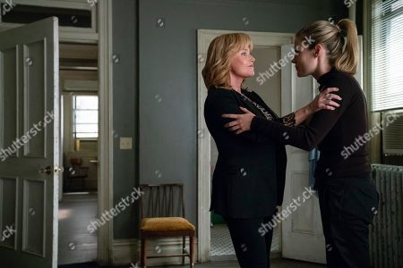 Stock Image of Rebecca De Mornay as Dorothy Walker and Rachael Taylor as Trish Walker