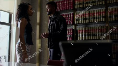 Tiffany Mack as Zaya Okonjo and Eka Darville as Malcolm Ducasse