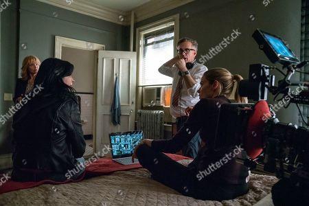 Stock Picture of Rebecca De Mornay as Dorothy Walker, Krysten Ritter as Jessica Jones, Stephen Surjik Director and Rachael Taylor as Trish Walker