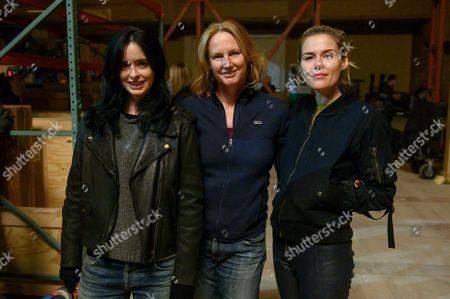 Krysten Ritter as Jessica Jones, Melissa Rosenberg Writer/Creator and Rachael Taylor as Trish Walker