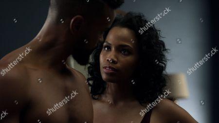 Eka Darville as Malcolm Ducasse and Tiffany Mack as Zaya Okonjo