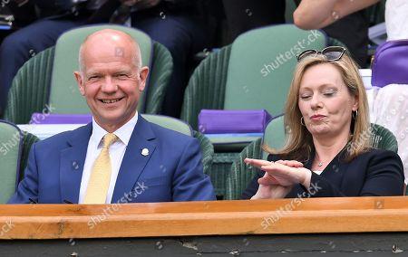 William Hague and Ffion Hague on Centre Court