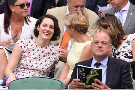Stock Picture of Phoebe Waller-Bridge chatting with Katherine Grainger on Centre Court