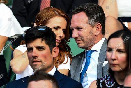 Geri Horner and Christian Horner in the Royal Box