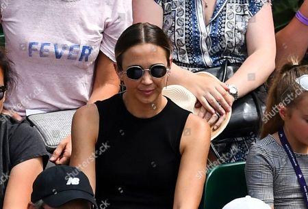 Stock Image of Rebecca Cartwright watching husband Lleyton