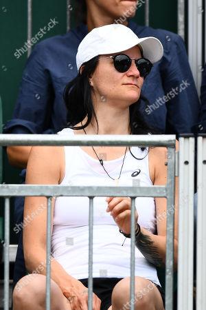 Vucica Golubic, mother of Viktorija Golubic in the players' seats