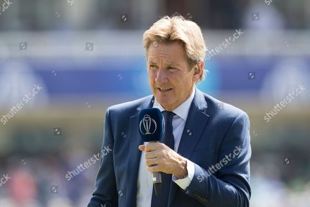 Stock Picture of Mark Nicholas during Pakistan vs Bangladesh, ICC World Cup Cricket at Lord's Cricket Ground on 5th July 2019