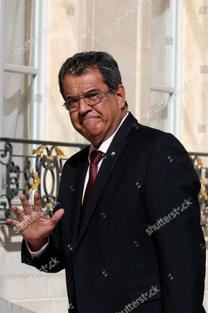 Edouard Fritch, President of French Polynesia, arrives for a meeting at the Elysee Palace in Paris, France, 05 July 2019.