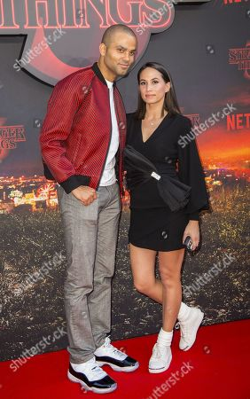 Tony Parker and wife Axelle Francine