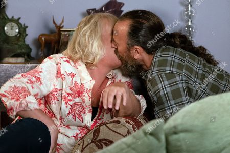 Ep 9819 & 9820 Friday 12th July 2019 Eileen Grimshaw, as played by Sue Cleaver, opens up to Jan Lozinski, as played by Piotr Baumann, about her marriage to Phelan and Jan assures her she'll find love again. As he leans in for a kiss, Eileen kisses him back but then pulls away. Eileen assures Jan that she likes him but she's not ready for a relationship.