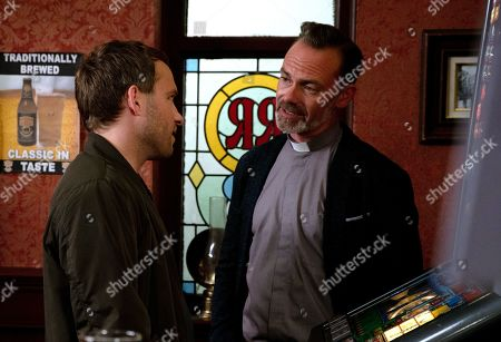 Ep 9816 Monday 8th July 2019 - 2nd Ep Billy Mayhew, as played by Daniel Brocklebank, explains to Paul Foreman, as played by Peter Ash, that he's reported Marley to the police for assaulting Sean. Paul's furious and finishes with Billy.