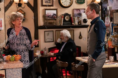 Ep 9809 Monday 1st July 2019 - 1st Ep Nick Tilsey, as played by Ben Price, tries to speak to Audrey Roberts, as played by Sue Nicholls, to build bridges but Paula reminds him he is in breach of his bail conditions by approaching her.