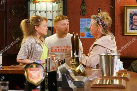Ep 9829 Wednesday 24th July 2019 - 1st Ep As the customers make cash donations towards the babies' futures Chesney Brown, as played by Sam Aston, plucks up the courage and tells Gemma Winter, as played by Dolly-Rose Campbell, he never stopped loving her and wants to try again. But as he leans in for a kiss, they're interrupted by the arrival of Gemma's Mum, Bernie Winter, as played by Jane Hazlegrove, who reveals she's about to be made homeless and needs money. When Gemma offers her the cash from the charity collection Chesney's appalled.