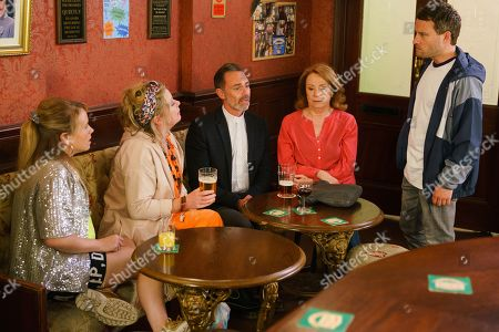 Ep 9830 Wednesday 24th July 2019 - 2nd Ep Paul Foreman, as played by Peter Ash, calls in the Rovers and is horrified to find Bernie Winter, as played by Jane Hazlegrove, there. Warning Gemma Winter, as played by Dolly-Rose Campbell, it'll end in tears, he storms out.
