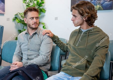 Ep 8537 Tuesday 16th July 2019 - 2nd Ep David Metcalfe, as played by Matthew Wolfenden, worries about his hospital results when Jacob Gallagher, as played by Joe Warren Plant, unexpectedly arrives to support him.