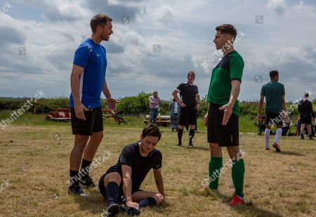 Ep 8546 Thursday 25th July 2019 - 1st Ep During a cubs football match, when Matty Barton's, as played by Ash Palmisciano, barged by Jono, as played by Eddie-Joe Robinson, the opposing team's defender, Pete acts protectively and risks outing Matty. With Pete Barton, as played by Anthony Quinlan.