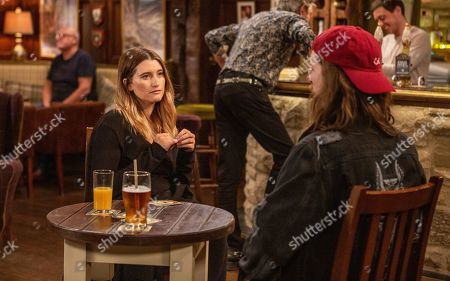 Ep 8529 Tuesday 9th July 2019 - 1st Ep Debbie Dingle, as played by Charley Webb, asks Ryan, as played by James Moore, to advise Matty about women and soon a new idea is launched.