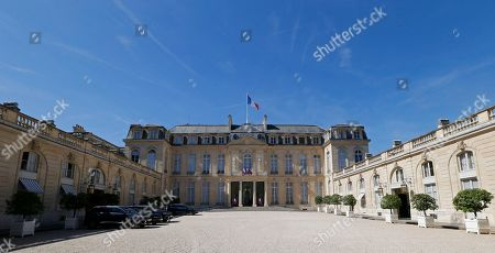 General view of the courtyard of the Elysee Palace in Paris, France, 05 July 2019.