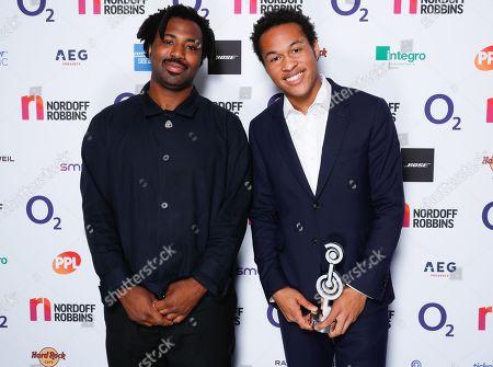 Sampha and Sheku Kanneh-Mason with award