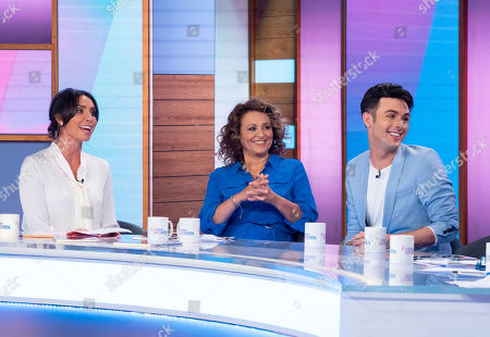 Stock Photo of Christine Lampard, Nadia Sawalha, Jaymi Hensley and his dad David Hensley