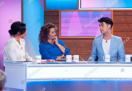 Christine Lampard, Nadia Sawalha, Jaymi Hensley and his dad David Hensley