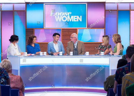 Christine Lampard, Nadia Sawalha, Jaymi Hensley and his dad David Hensley, Carol McGiffin and Kaye Adams