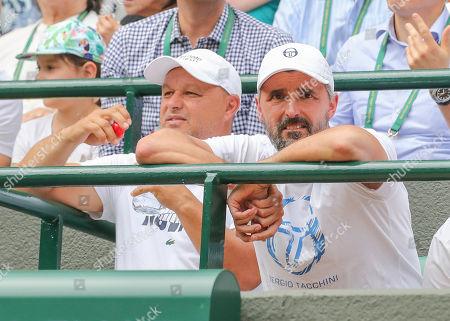 Novak Djokovic Team - Trainer Marian Vajda and Goran Ivanisevic