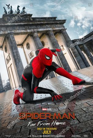 Spider-Man: Far from Home (2019) Poster Art. Tom Holland as Peter Parker/Spider-Man