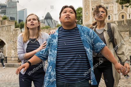 Angourie Rice as Betty Brant, Jacob Batalon as Ned Leeds and Zendaya as MJ